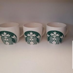 3 Starbucks coffee cups.